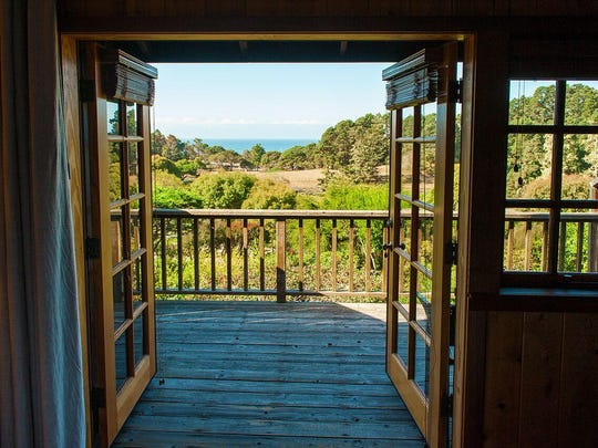 A view from the Stanford Inn at the Sea in Medocino, California. The inn has an energy conservation program and provides educational programs in gardening, cooking and composting.