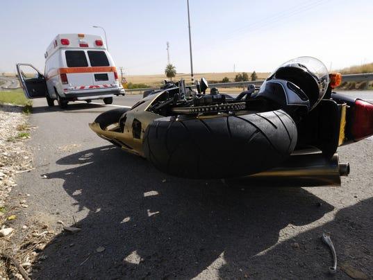 Motorcycle crash illustration