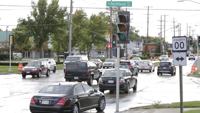 The intersection of Richmond Street and Northland Avenue in Appleton previously was controlled by traffic lights.