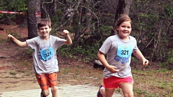 Kids compete in a past Gnarliest Kids Race. The 6th