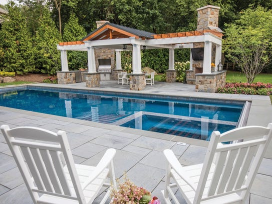 Franklin Lakes backyard designed by Thomas Flint Landscape