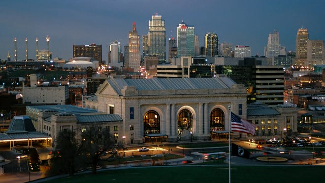 Built in 1919, Union Station graces the skyline of downtown Kansas City.