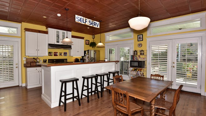 222 North Spring Street, the spacious kitchen with casual dining space.