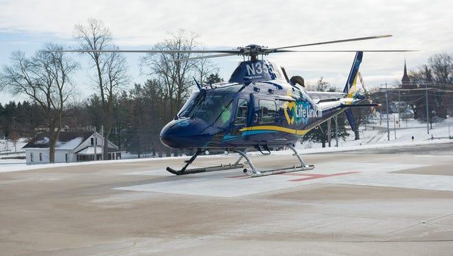 Life Link III evacuation helicopter.