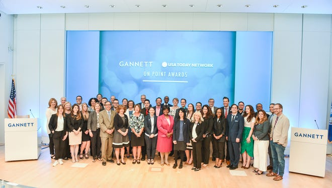 Honored employees at Gannett | USA TODAY NETWORK's OnPoint Awards