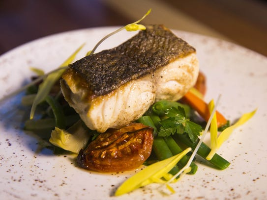 Oven-Roasted Sea Bass from Match Restaurant & Lounge.