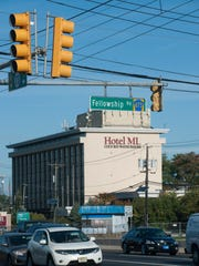 The Hotel ML is visible in the background on Route 73 near the intersection with Fellowship Road in Mount Laurel. This area could be undergoing a major road construction project in 2021.