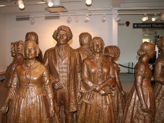 The First Wave, a group of 19 life-sized bronze statues,