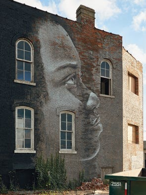 Strikingly handsome murals have blossomed all across