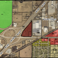 The striped red triangle at the center of this map produced by city staff indicates where the truck stop is proposed.