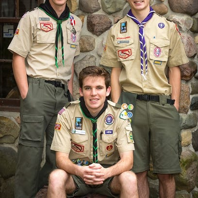 Eagles soar: Scout troop trio reaches highest rank