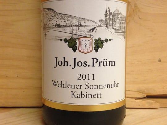 2011 J.J. Prüm kabinett riesling.