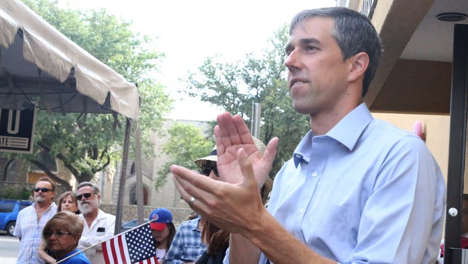 Democratic U.S. Senate candidate Beto O'Rourke appeared at a 'Menudo & Mariachis' campaign event Sunday in El Paso.