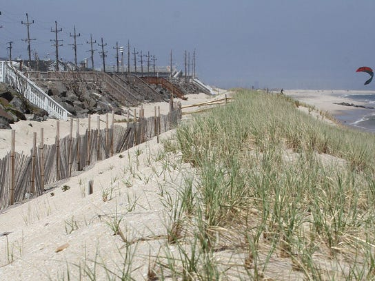 Erosion of the beaches in the north end of Sea Bright.