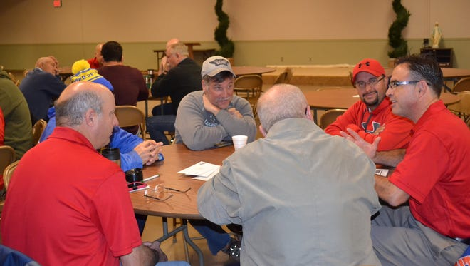 """The Fremont Catholic Men's Group has grown from a dozen men to about 100 in the past year. It is working through the """"That Man Is You"""" curriculum, delving deeply into issues that affect men."""