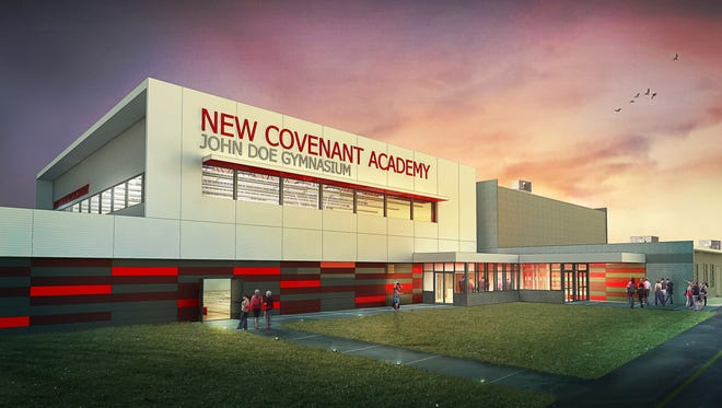 A rendering of the new gym planned at New Covenant Academy.