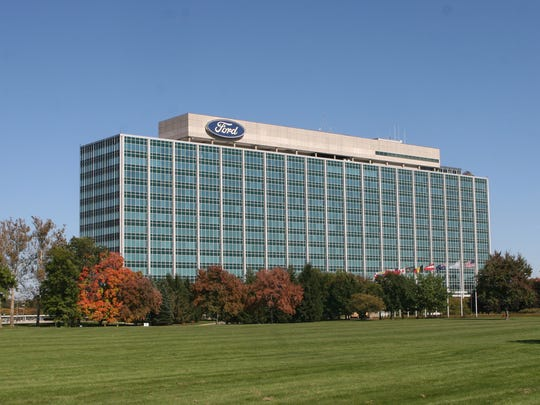 The Ford Motor Company World Headquarters on Michigan