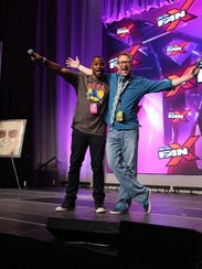Comedian Jay Whittaker, left, and  FanX MC Chris Provost