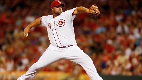 Reds relief pitcher Jonathan Broxton