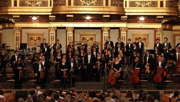 New Jersey Youth Symphony at Vienna's Musikverein.