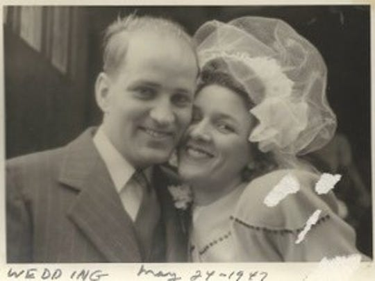 Marian and Clayton Roshirt were married in Chicago