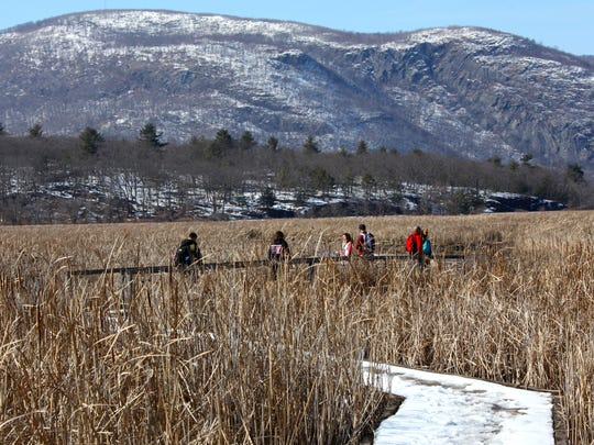 Constitution Marsh Audubon Center and Sanctuary is a 270-acre tidal marsh with spectacular views of the Hudson Highlands. It is on the east shore of the Hudson River, just south of the village of Cold Spring. A 700-foot boardwalk allows visitors to walk right into the marsh habitat.