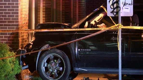A driver was found shot and critically injured in a crashed vehicle early Monday.