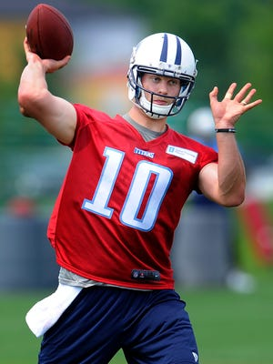 Titans quarterback Jake Locker is learning his third offense in four years.