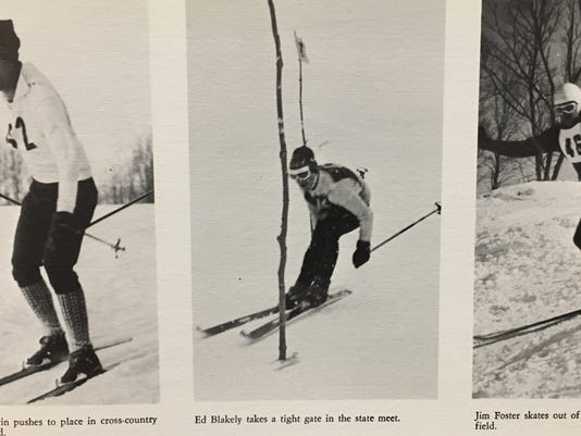 Members of the Burlington High School Class of 1968 Cross Country Ski Team