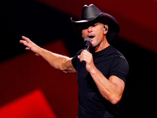 Tim McGraw performs on July 20, 2018, during the Soul2Soul