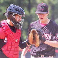 Haddonfield catcher Thomas Gosse and starting pitcher Matt Jones made sure they were on the same page during Tuesday's South Jersey Group 2 semifinal against Glassboro.