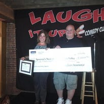 From left to right: Daniel McRitchie, Pleasant Valley Agency, Laugh It Up! Comedy Club and Krista Jones, Sparrow's Nest of the Hudson Valley.