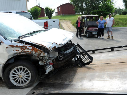"""The Chrysler minivan Stephanie Latier was pulled from sat on her parents' property for several months before being towed away. It was a constant reminder of the crash during that time. """"My car looking the way it looks, I don't need to remember that,"""" she said. """"I just need to remember what I need to learn from it."""""""