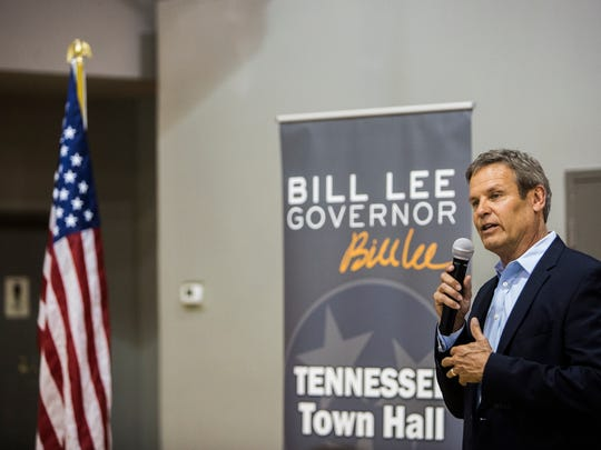 Republican gubernatorial candidate Bill Lee met with leaders of the Memphis-based Black Farmers and Agriculturalists Association on Monday.