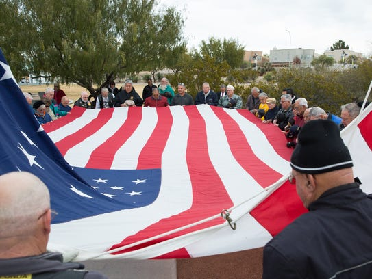The City of Las Cruces Garrison Flag was raised Wednesday
