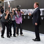 """Arnold Schwarzenegger arrives at the Los Angeles premiere of """"Terminator Genisys"""" at The Dolby Theatre."""