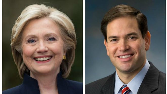 Both Hillary Clinton and Marco Rubio delivered the same overarching theme: I'm the forward-thinking presidential candidate.