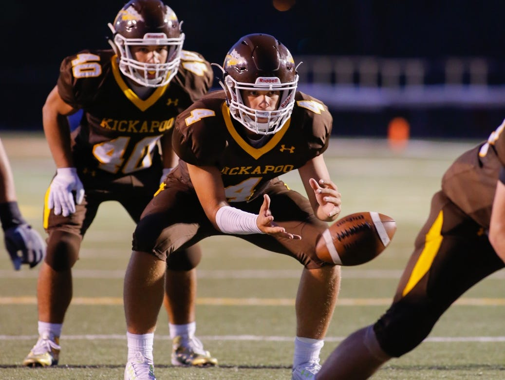 Kickapoo quarterback Chris Lawson (4) enters Friday's game with Lee's Summit West with 1,264 yards passing and 16 touchdown passes.