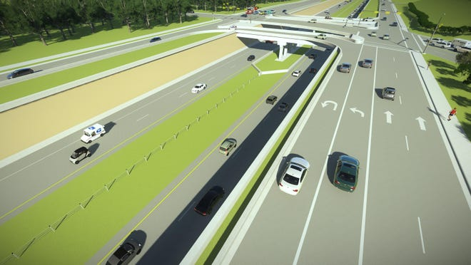 TxDOT officials said residents favored underpasses rather than overpasses. An example of an underpass at Loop 360 and Westbank Drive.