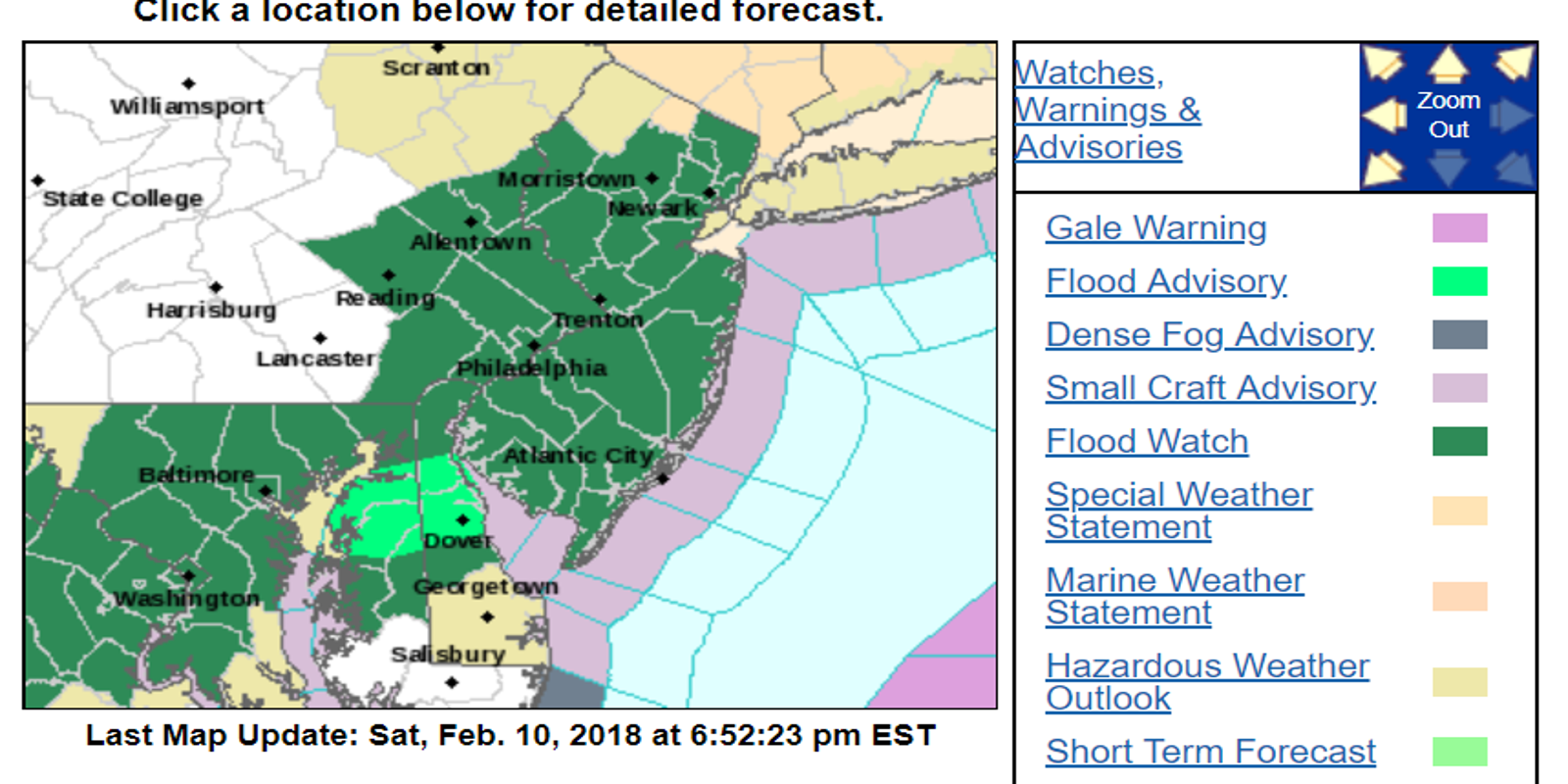 Jersey Shore Under Flood Watch For Rest Of Weekend