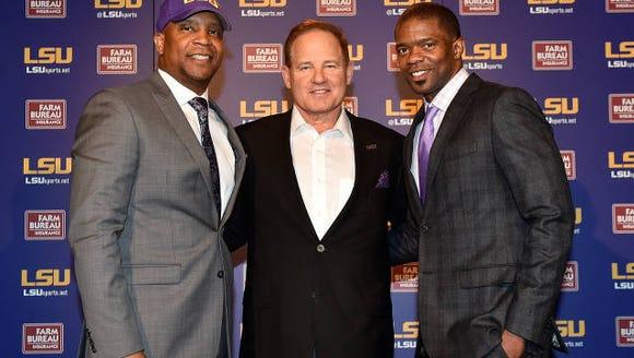 LSU head coach Les Miles introduces new RB coach Jabbar