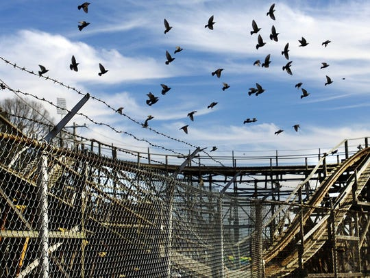 Liberty Land amusement park in the Mid-South Fairgrounds once featured the rollercoaster named Zippin Pippin.