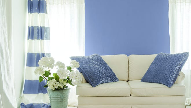Violet Verbena, PPG's 2017 Color of the Year can easily become the center point of any room.