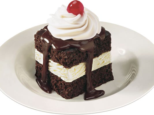 Shoney's hot fudge cake