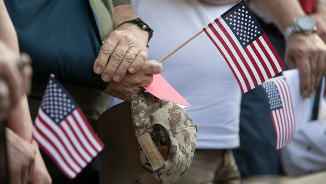 Hundreds of supporters gathered at Veterans Memorial Island Sanctuary in Vero Beach May 29, 2017. This year's  Memorial Day Ceremony is 9 a.m. May 28.