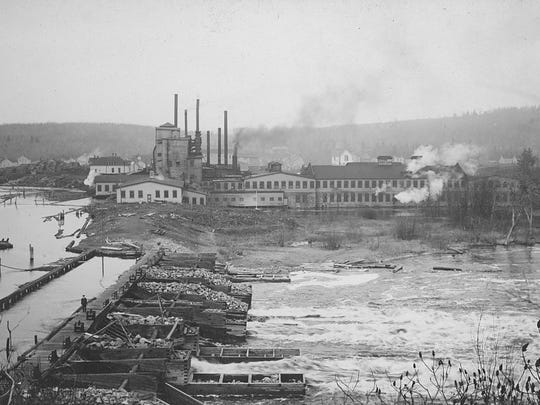 The Wausau Paper mill was built in Brokaw in 1899.
