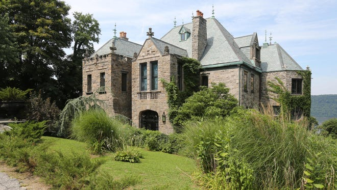 The exterior of this castle in north Yonkers, photographed July 29, 2015, is on the market.