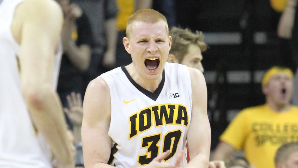 Iowa Hawkeye senior Aaron White