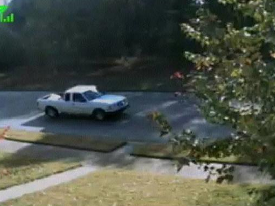 Those driving in this truck were seen stealing a package or packages after being left by delivery trucks.