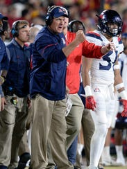 Arizona Wildcats head coach Rich Rodriguez.